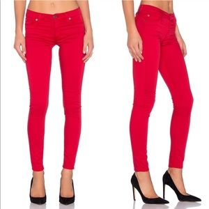 Hudson Nico Super Skinny Midrise Red Jeans 26 / 31